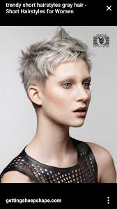 funky hairstyle for silver hair 130 best kapsels 49 zilver grijs haar images on pinterest
