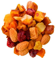 trail mix healthy dried fruit and nut mix no sugar added