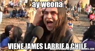 James Labrie Meme - ay weona viene james labrie a chile meme de metalero jiots