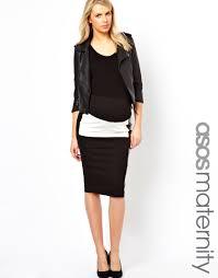 maternity skirt maternity color block pencil skirt with pu panel datiyah