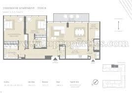 2 Bed Floor Plans by Floor Plans City Walk Jumeirah By Meraas