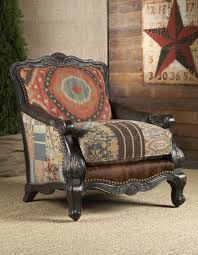 Living Room Chair With Ottoman Southwestern Buckley Chair Chairs Ottomans Living Room Rustic Log