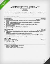Sample Resume Design by Administrative Assistant Resume Template For Download Free