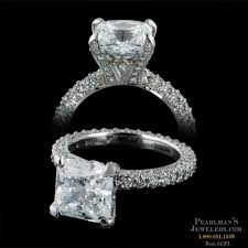 pave engagement rings images Michael b jewelry platinum three sided micro pave engagement ring jpg