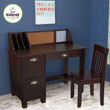 Desk Storage Drawers Office Extraordinary Kidkraft Study Desk With Side Drawers