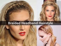 braided headband hairstyles style video tutorial