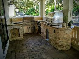 creative outdoor kitchens outdoor kitchen with grill pizza oven