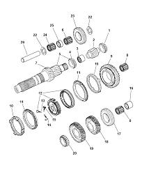 Dodge Ram Cummins Manual Transmission - gear train manual transmission for 2005 dodge ram 2500