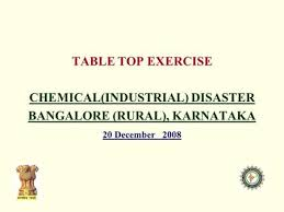 Table Top Exercise by Table Top Exercise On Chemical Industrial Disaster In Bellary