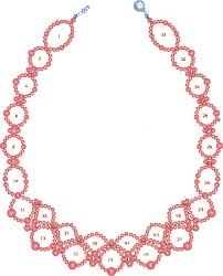 free necklace pattern images Free pattern for pretty necklace sea date beads magic gif