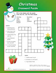 christmas crossword puzzle christmas crossword worksheets and