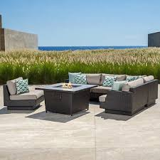 Firepit Patio Table Outdoor Pits Chat Sets Costco
