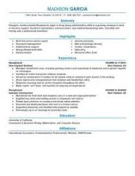 Sample Resume For Receptionist Position by Sample Resume For Secretary Receptionist Images Free Resume