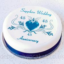 wedding anniversary cakes sapphire wedding anniversary cake topper 45th anniversary cake