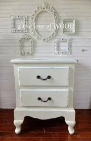 Shabby Chic Pottery by The Cottage Girls Vintage Shabby Chic Nightstand End Table With