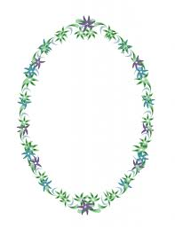 Old Fashioned Picture Frames Vintage Oval Flower Border Frame Free Stock Photo Public Domain