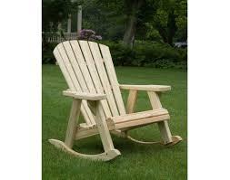 Cracker Barrel Rocking Chair Treated Pine Adirondack Rocker