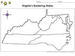 map of virginia and carolina virginia s bordering states map blank page king