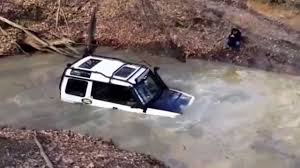 land rover water land rover discovery off road in deep water 4x4 youtube