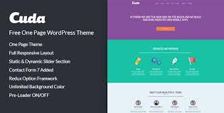 wordpress layout how to cuda free one page wordpress theme codexcoder