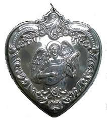 wallace grande baroque heart with angel sterling christmas