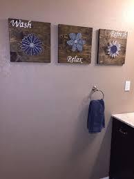 wall decor bathroom ideas diy bathroom wall string to add a pop of color hometalk
