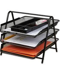 Paper Desk Organizer Deal Alert Mind Reader 3 Tier Mesh Paper Tray Desk Organizer In Black