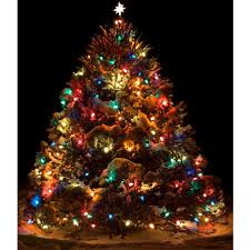 christmas tree with colored lights flocked christmas tree multicolor lights multi color christmas tree