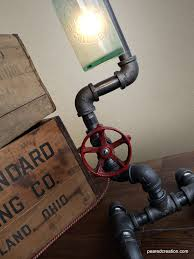 industrial beer lamp bottle lighting steampunk fixture