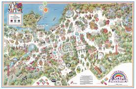 Manasquan Reservoir Map Six Flags Great Adventure 1986 Poster Map It Has The Ultra