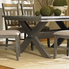 powell turino 6 piece rectangle dining room set in grey oak availability in stock