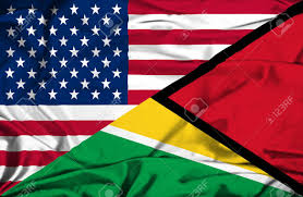 Guyana Flag Waving Flag Of Guyana And Usa Stock Photo Picture And Royalty