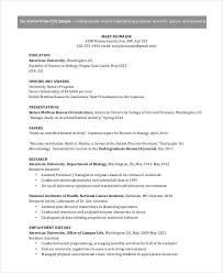 Microbiologist Resume Sample by 8 Academic Curriculum Vitae Templates In Word Free U0026 Premium
