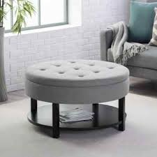 Leather Storage Ottoman Coffee Table Leather Storage Ottoman Square Rhcollegesnappscom Tables Gray