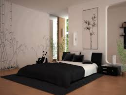 bedroom interior design black duvet and pillows unique red vases
