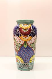 Mexican Vase Using Talavera Pottery To Spread The Artistic Mexican Culture