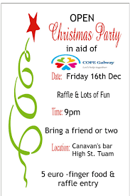 open invite to christmas party in aid of cope galway u2014 sharon