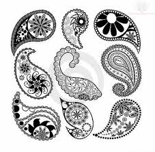 50 paisley pattern tattoos designs