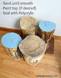 How To Make End Tables Out Of Tree Stumps by Diy Tree Stump Table