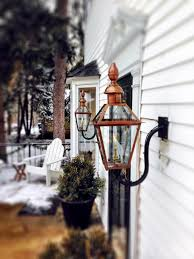 French Quarter Gas Lanterns by 100 Copper Outdoor Lights Canterbury 12 Volt Copper Path