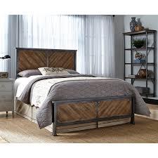 Yardley Bedroom Furniture Sets Walker Edison Queen Size Industrial Wood And Metal Bed Brown