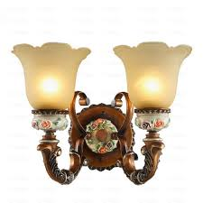 Bathroom Wall Sconces Decorative 2 Light Glass Shade Bathroom Wall Sconce Lighting