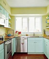 asian home interior design interior fancy u shape kitchen decoration with light green asian