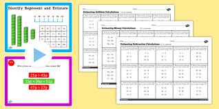 year 2 maths estimating calculations lesson pack pack y2