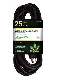 Workchoice Outdoor Grounded Outlet With by Gogreen Power Gg 13825bk 14 3 25 U0027 Sjtw Outdoor Extension Cord