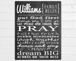Family House Rules Personalized Family Rules Wall Art Family Wall Sayings