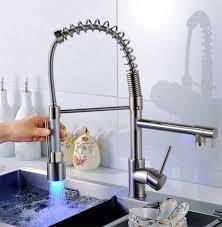 led kitchen faucet spout faucets your coiled kitchen faucet shop