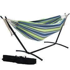 prime garden 9 foot double hammock with space saving steel hammock