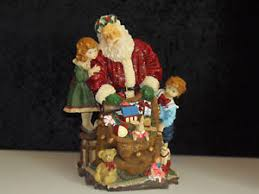 home interior ebay home interiors bearing gifts santa resin figurine 55056