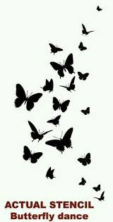 butterfly silhouettes idea tattoos